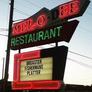 Mel-o-dee diner sign