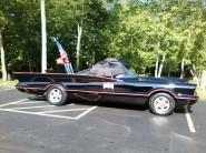 Batmobile waiting for parade