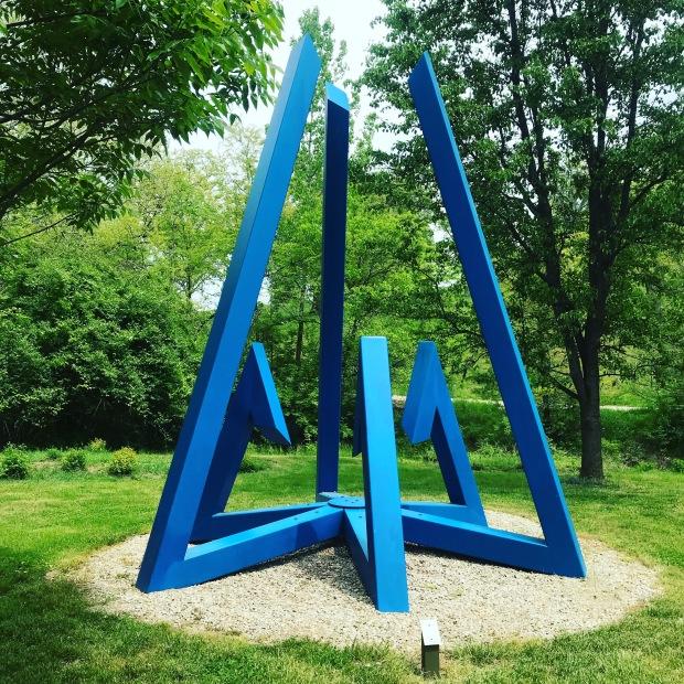 outdoor blue sculpture