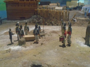 Model of a burial at Fort Meigs