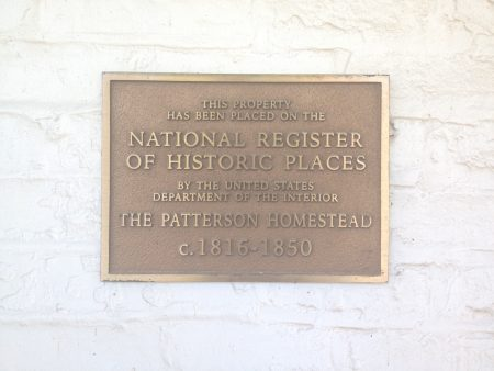 Patterson Homestead Plaque